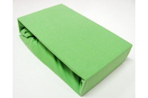 TP Jersey prostěradlo Premium 190g/m2 160x200 Zelená Prostěradla