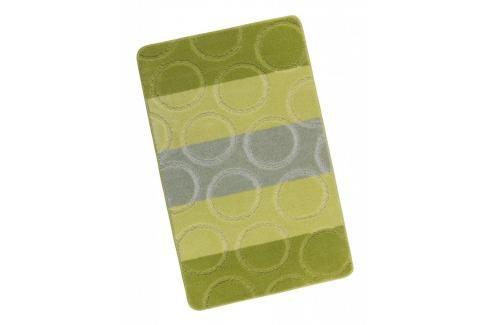 Koupelnová předložka 60x100cm zelené kroužky Dávkovače mýdla