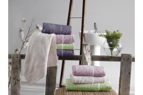 Bambusový ručník Sofia - Světle zelený Ručníky