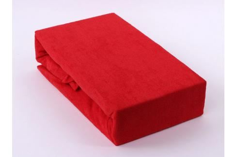 TP Froté prostěradlo Premium 190g/m2 220x200 Červená Prostěradla