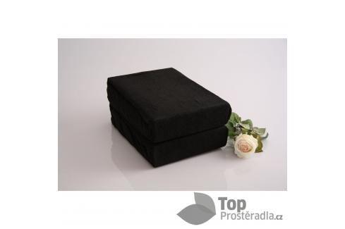 TP Froté prostěradlo Premium 190g/m2 220x200 Černá Prostěradla