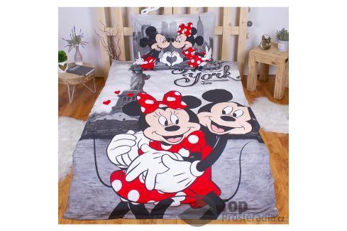 Bavlněné povlečení 140x200 70x90 Mickey & Minnie v NY Ložní povlečení