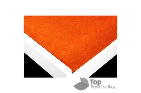 TP Žakárové prostěradlo (180 x 200) Premium - Oranžová Prostěradla