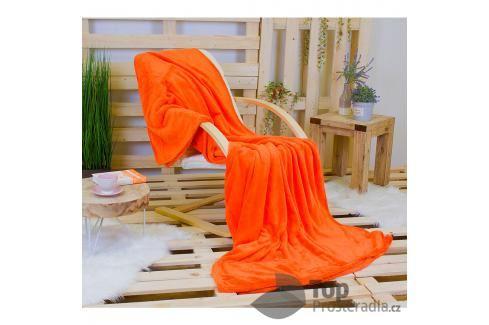 TP Jemná deka 220x200 Oranžová Mikrovlákno Deky
