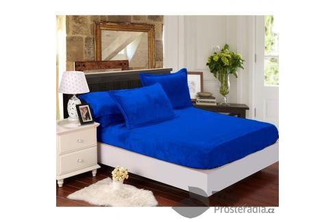 TP Mikroflanelové prostěradlo 90x200 Tmavě modrá Prostěradla
