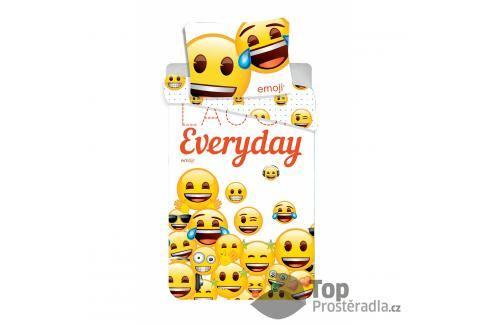 TOP Bavlněné povlečení 140x200+70x90 Emoji Smile Everyday Dětské povlečení
