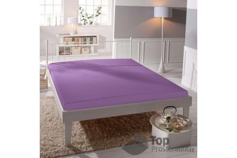 TOP Jersey prostěradlo lycra DeLuxe 170g/m2 180x200 Středně fialová Prostěradla