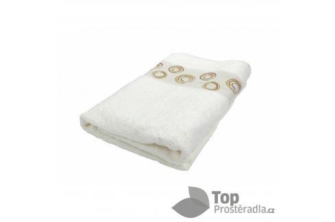 TOP Froté ručník EXCLUSIVE - Circles krémová Ručníky
