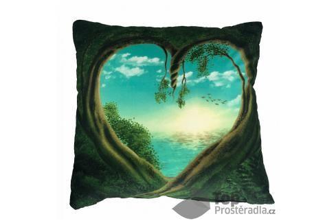 Apex 3D povlak 45x45  Srdce přírody Ložní povlečení