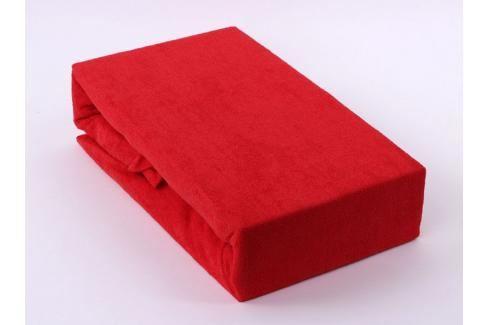 TP Froté prostěradlo Premium 190g/m2 180x200 Červená Prostěradla