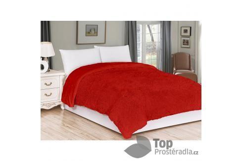 Luxusní deka s dlouhým vlasem 150x200 - Červená Deky