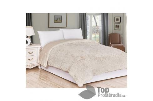 Luxusní deka s dlouhým vlasem 150x200 - Béžová Deky