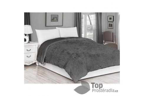 Luxusní deka s dlouhým vlasem 150x200 - Šedá Deky