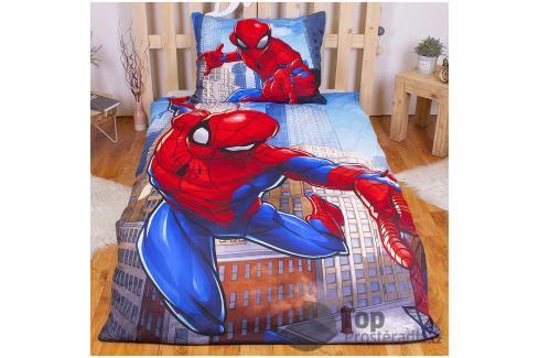 Povlečení z mikrovlákna 140x200 70x90 Spiderman Blue Ložní povlečení