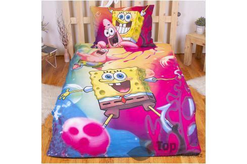 Bavlněné povlečení 140x200 70x90 SpongeBob Ložní povlečení