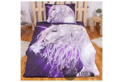 TOP Bavlněné povlečení 140x200+70x90 - Unicorn purple Ložní povlečení