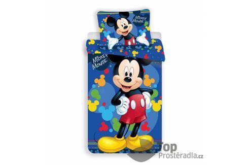 Povlečení z mikrovlákna 140x200 70x90 Mickey blue Dětské povlečení