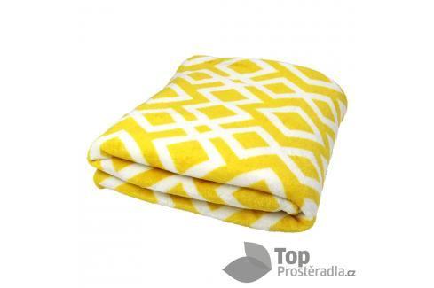 TP Mikroflanelová deka 150x200 Kosočtverce žluté Deky