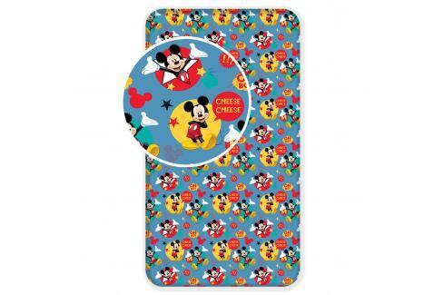 Bavlněné povlečení 90x200 Mickey Mouse Dětské povlečení