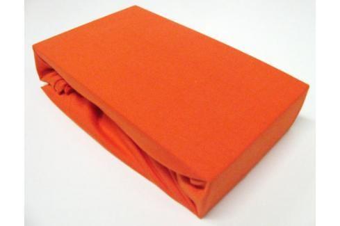 TP Jersey prostěradlo Premium 190g/m2 90x200 Oranžová Prostěradla