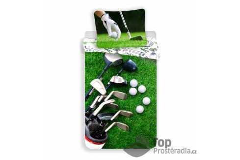 TOP Bavlněné povlečení 140x200+70x90 Golf Dětské povlečení