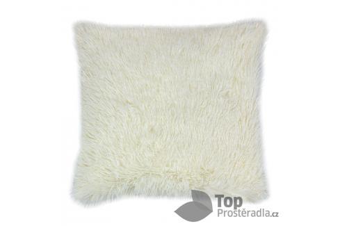 TOP Luxusní povlak na polštářek s dlouhým vlasem 40x40 - Krémová Ložní povlečení