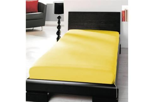 TP Jersey prostěradlo Premium 190g/m2 90x200 Žlutá Prostěradla