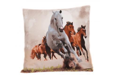 Apex 3D povlak 45x45 Divocí koně Ložní povlečení
