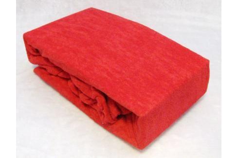 TP Froté prostěradlo Premium 190g/m2 160x200 Červená Prostěradla