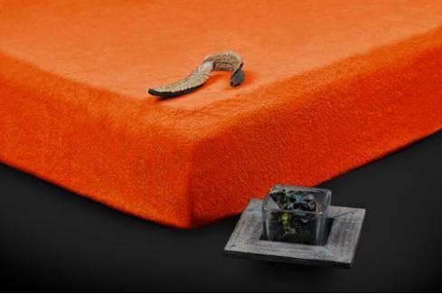 TP Froté prostěradlo Premium 190g/m2 90x200 Oranžová Prostěradla