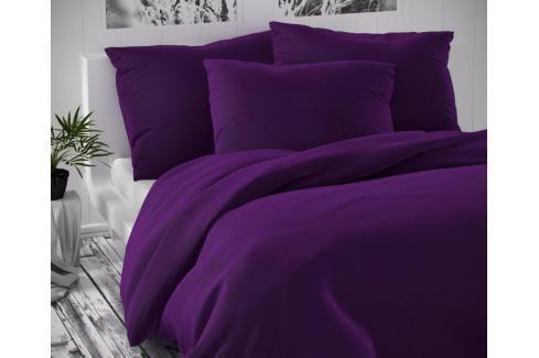 TOP Saténové francouzské povlečení LUXURY COLLECTION 220x200+2x70x90cm tmavě fialové Ložní povlečení