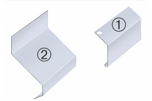 Spojovací krytka H22 horní/spodní (set) LBKSKH22 Ukončovací a přechodové lišty