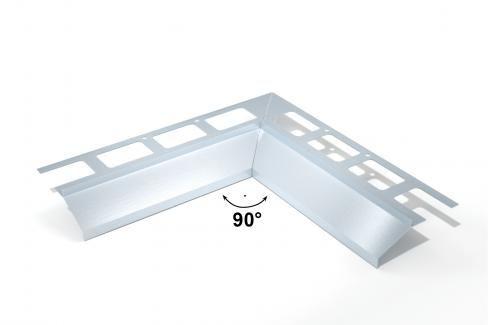 Rohový segment 90° H9 vnitřní hliník, 9 mm RALOPVNI940 Ukončovací a přechodové lišty