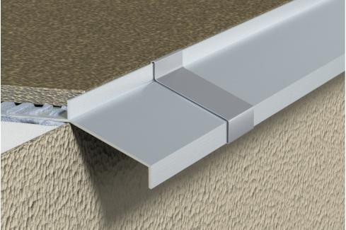 Lišta balkonová hliník elox, 9 mm ALEOP940250 Ukončovací a přechodové lišty