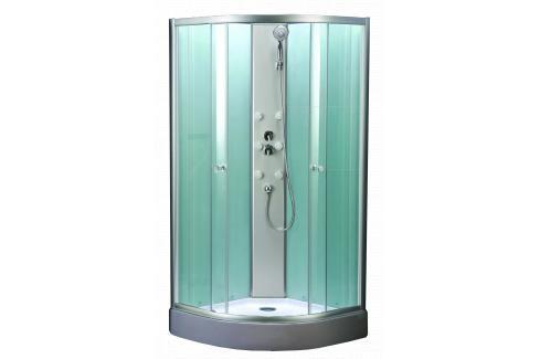Sprchový box čtvrtkruh 90x90x200 cm Multi Mbox chrom lesklý MBOX Sprchové kouty