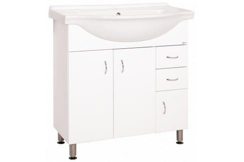 Koupelnová skříňka s umyvadlem Keramia Pro 80x50 cm bílá PRO80DV Koupelnový nábytek