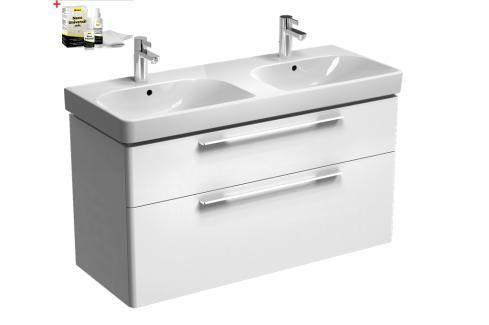Koupelnová skříňka s umyvadlem Kolo Kolo 120x71 cm bílá lesk SIKONKOT2120BL Koupelnový nábytek