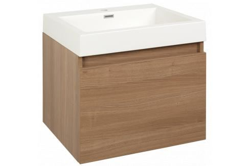 Koupelnová skříňka s umyvadlem Naturel Verona 60x48 cm cherry VERONA60DV Koupelnový nábytek