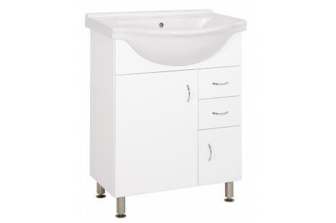 Koupelnová skříňka s umyvadlem Keramia Pro 60x50 cm bílá PRO60DV Koupelnový nábytek