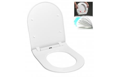 WC prkénko Glacera duroplast bílá EASYSLIM44 Záchody