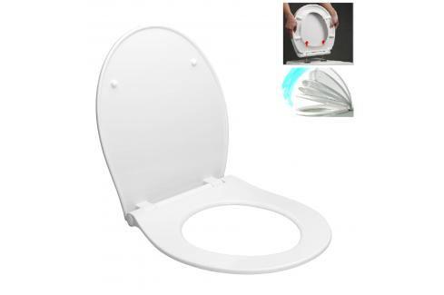 WC prkénko Glacera duroplast bílá EASYSLIM33 Záchody