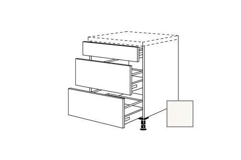 Spodní kuchyňská skříňka zásuvková spodní Naturel Erika24 60x72x56 cm bílá lesk 450.UA60 Kuchyňské skříňky dle typu