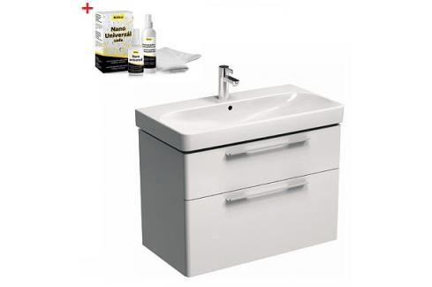 Koupelnová skříňka s umyvadlem Kolo Kolo 90x48x71 cm bílá lesk SIKONKOT90BL Koupelnový nábytek