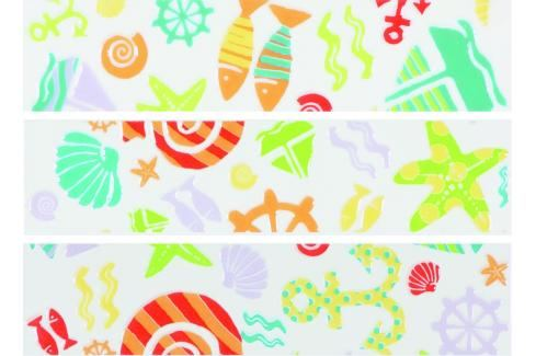 Listela Fineza Happy sea 5x20 cm, lesk WLAE8320 Obklady a dlažby