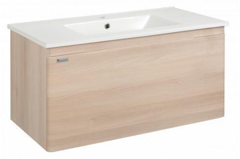 Koupelnová skříňka s umyvadlem Naturel Ancona 75x46 cm akácie ANCONA75DV Koupelnový nábytek