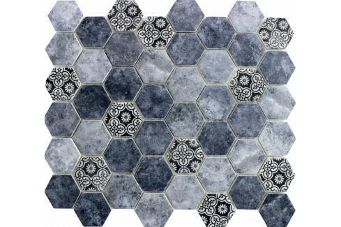 Skleněná mozaika Premium Mosaic azul 28x32 cm mat PATCHWORK45AZ Obklady a dlažby