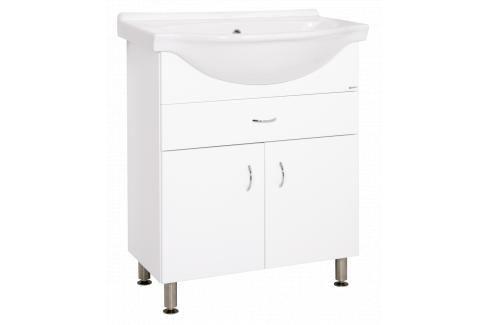 Koupelnová skříňka s umyvadlem Keramia Pro 70x56 cm bílá PRO70Z Koupelnový nábytek