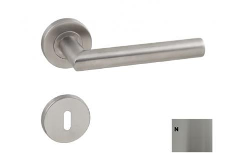 NATUREL Nerezová klika s rozetou na klíč - KLIKATIPA Kliky a kování