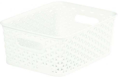 CURVER - Úložný box Rattan Y Style - S - bílý Košíky
