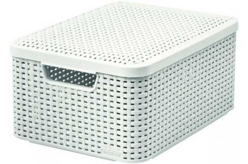 CURVER - Úložný box s víkem STYLE M, krémový Košíky